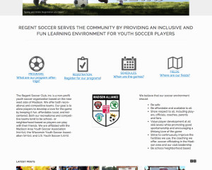 Regent Soccer Club Website